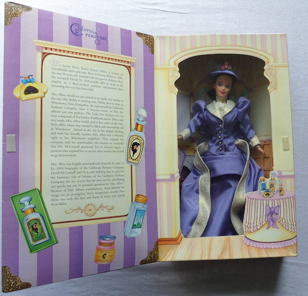 Mattel Barbie 1997 Avon Exclusive Barbie as Mrs. P.F.E. Albee