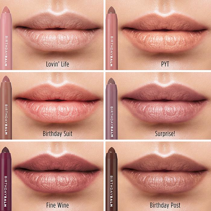 Birthday Balm Lip Crayon Color Chart