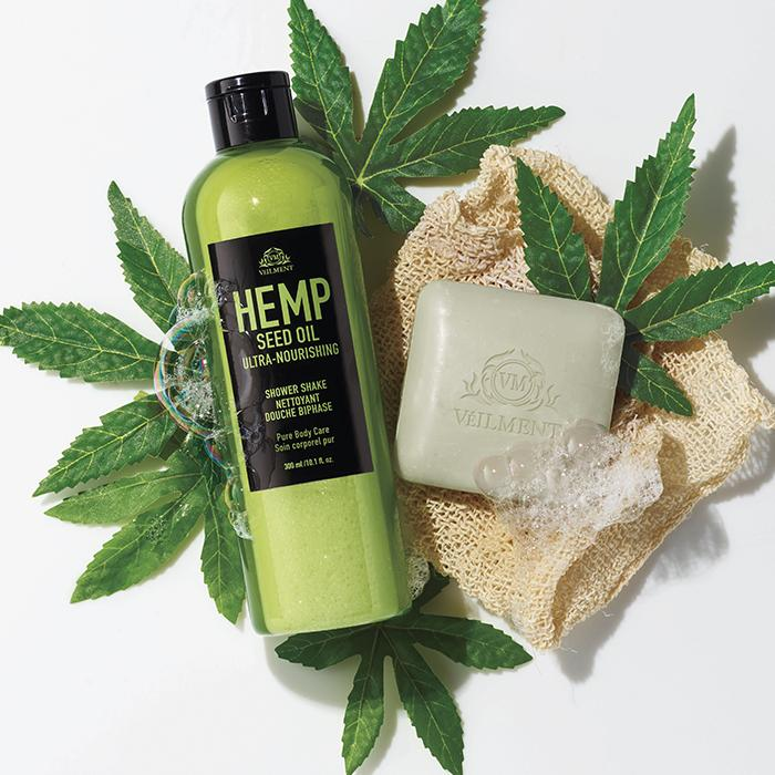 Veilment Hemp Seed Oil Ultra-Nourishing Bathing Bar & Shower Shake