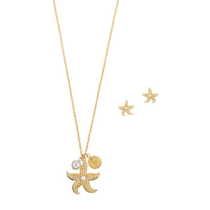 Shimmering Starfish Necklace and Earring Set