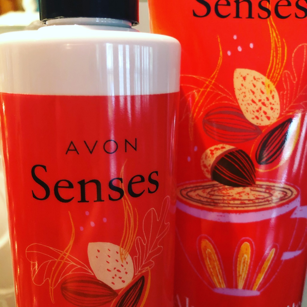 Almond Latte by Avon Senses lotion and shower gel