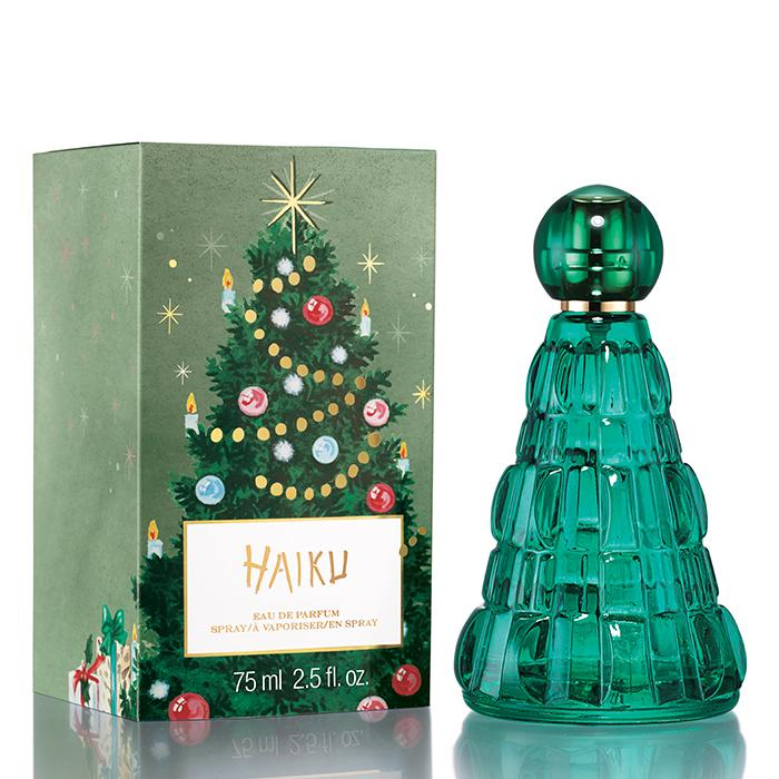 Christmas tree shaped Haiku eau de parfum by Avon