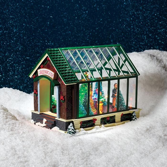 Light-Up Greenhouse Scene