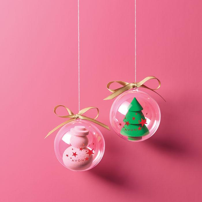 Cute Avon Makeup Applicator Ornaments