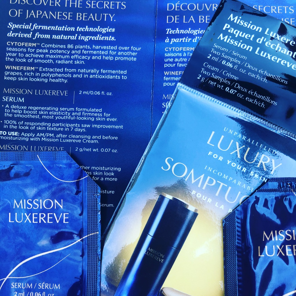 Sample packs of Mission Luxereve