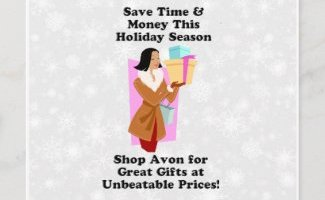 Personalized Avon Holiday Postcards