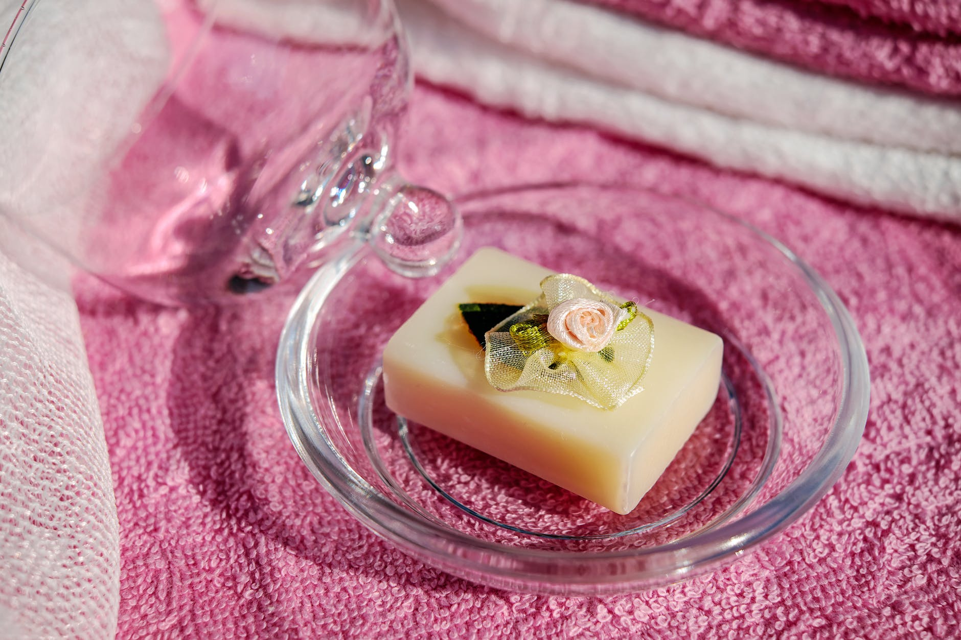 Pretty soap in dish.