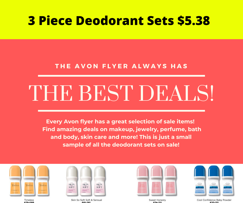 Amazing sale on Avon deodorant roll on antiperspirant