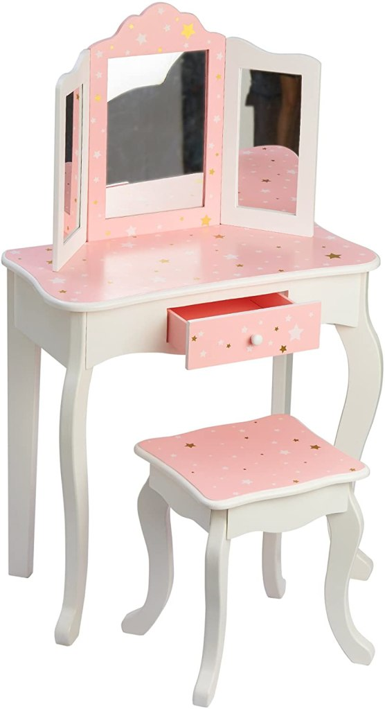 Vanity and chair for little girl