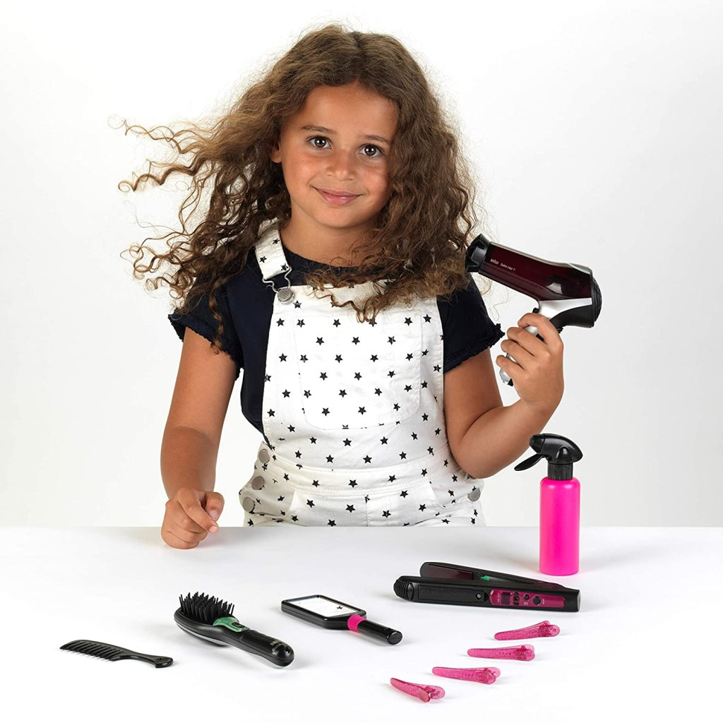 Realistic hair styling tools for kids