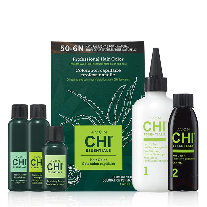 Avon CHI Essentials Hair Color comes with CHI repairing serum