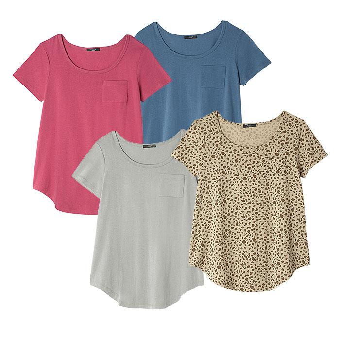 4 pack of fashion tees from Avon.