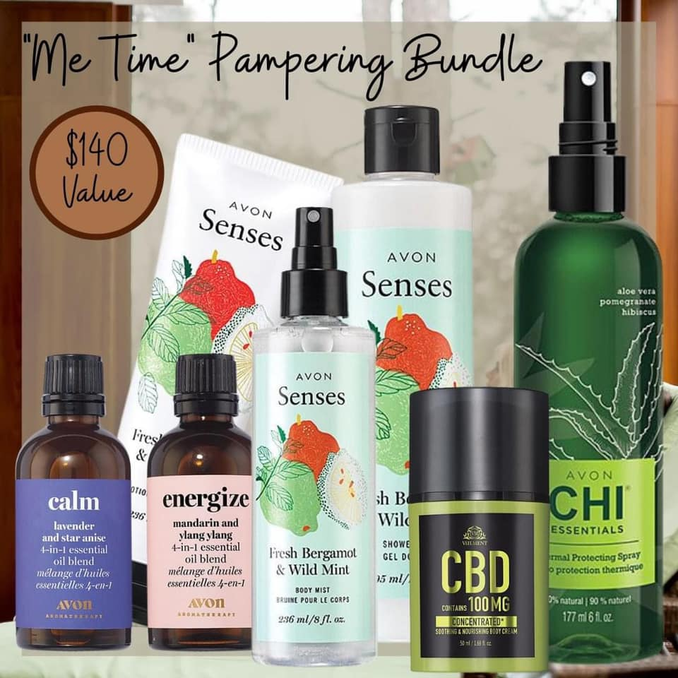 Me Time Pampering bundle from Avon for $50.