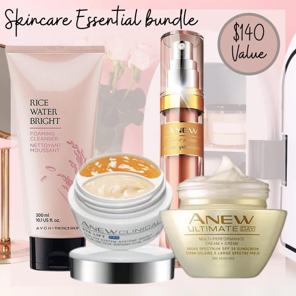 Avon Skin Care Essentials Bundle for $50.00