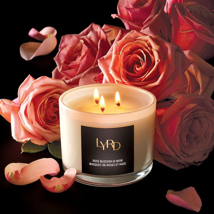 LYRD Rose Blossom & Musk Candle