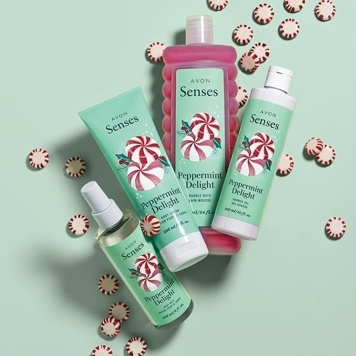 Peppermint bath and body for Christmas