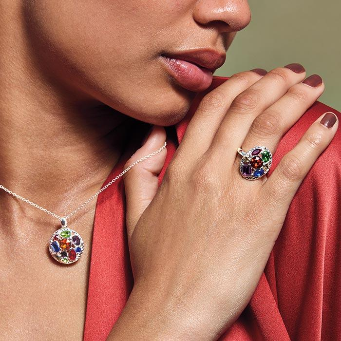 Jewelry that shimmers and shines.
